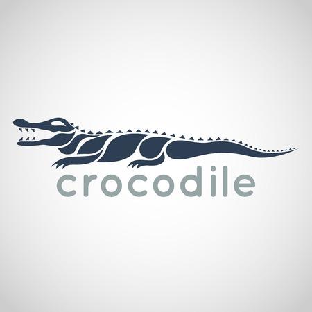 crocodile logo vector