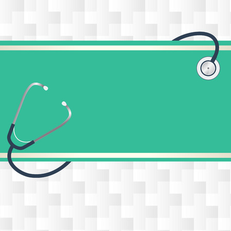 stethescope: Health care background Illustration