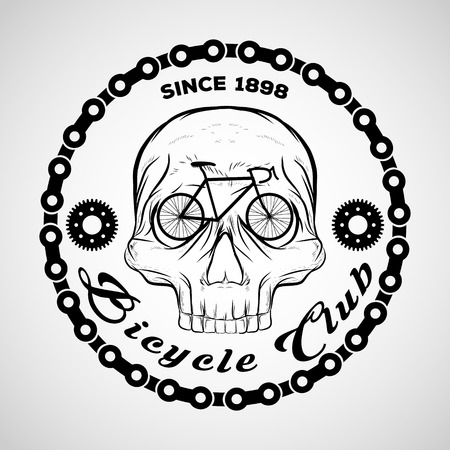 Skull logo, Bicycle Club logo