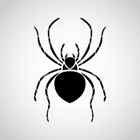 poison symbol: spider logo Illustration