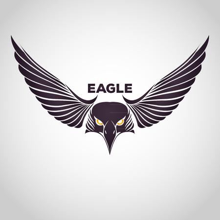 halcones: águila Vectores