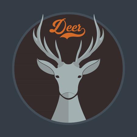 black deer: Deer  Illustration