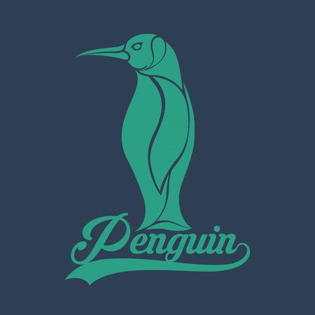 background antarctica: penguin   Illustration