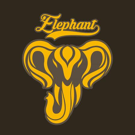 elefant: Elefanten-Logo Vektor Illustration