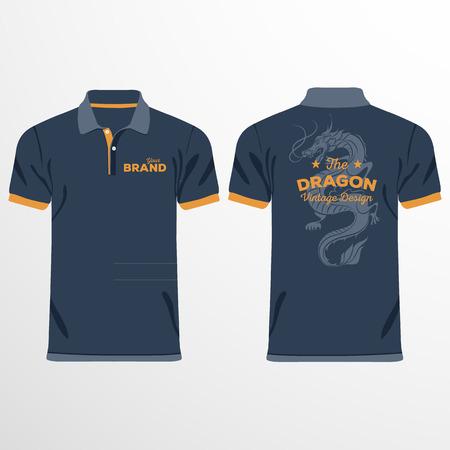 camiseta: Los hombres de color camisas de polo. Plantilla de diseño. Ilustración vectorial