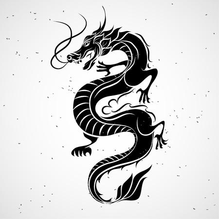 dragones: Dragón ilustración
