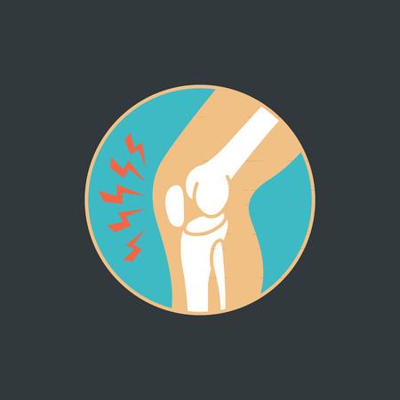 symbool van het kniegewricht botten voor orthopedische