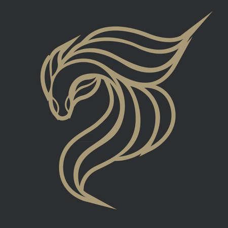 betta: fighting fish logo vector