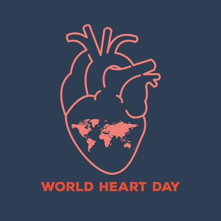 signs symbols: world heart day