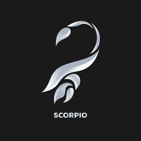 horoscope: Scorpio logo vector