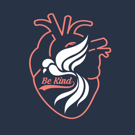 humility: be kind Illustration