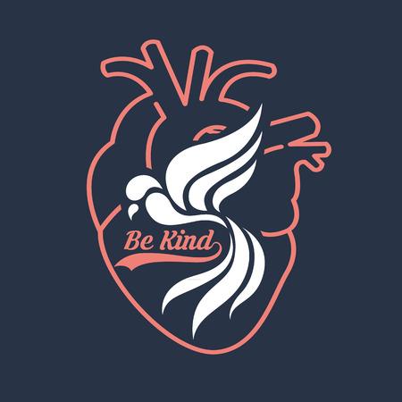 be: be kind Illustration