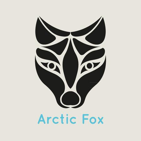 arctic: arctic fox logo vector Illustration