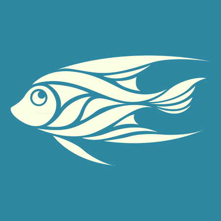 angelfish: angelfish logo vector