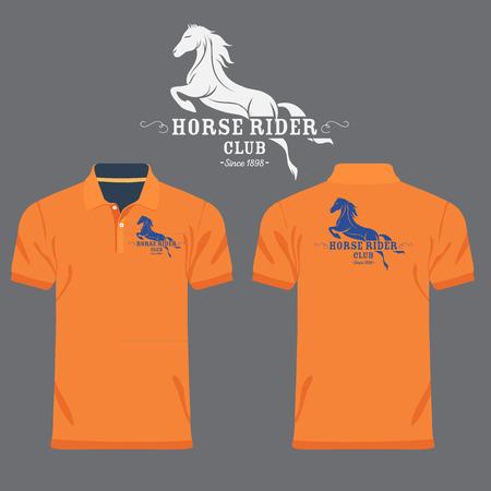 polo: Color men polo shirts Illustration