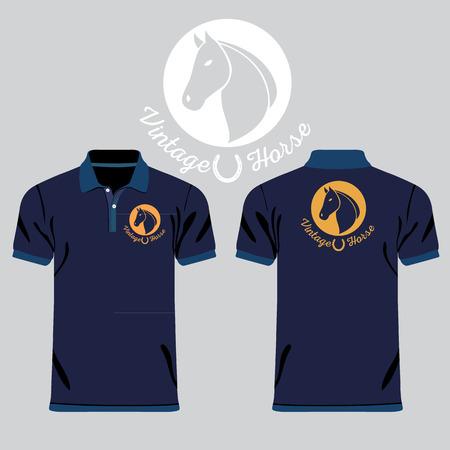 los hombres de color camisas de polo Ilustración de vector
