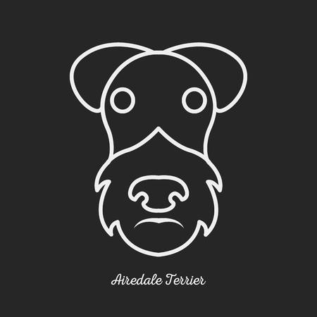 wheaten: Dog airedale terrier logo Illustration