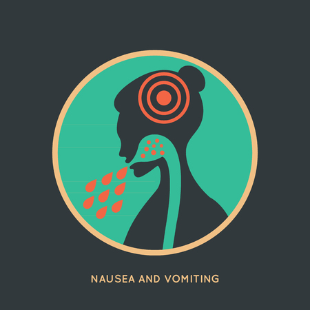 nausea: NAUSEA AND VOMITING Illustration