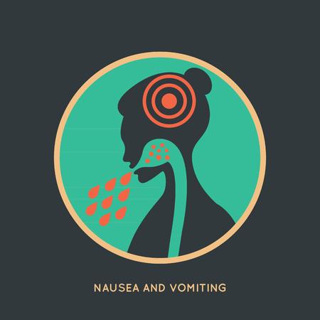 nausea: NAUSEA AND VOMITING Illustration