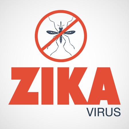 infection prevention: zika virus Illustration