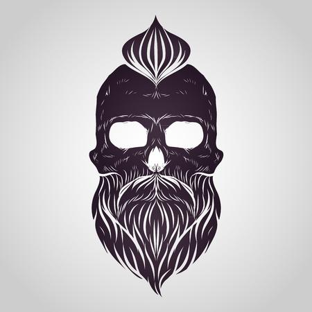 Bearded skull vector
