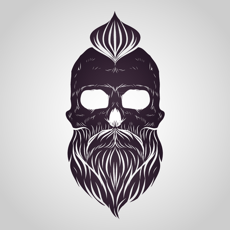 Bearded skull vector
