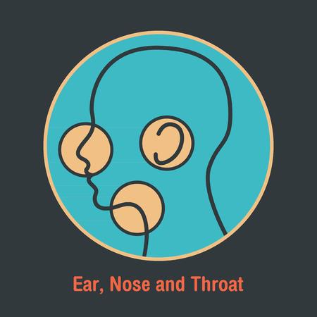 ear nose and throat Иллюстрация