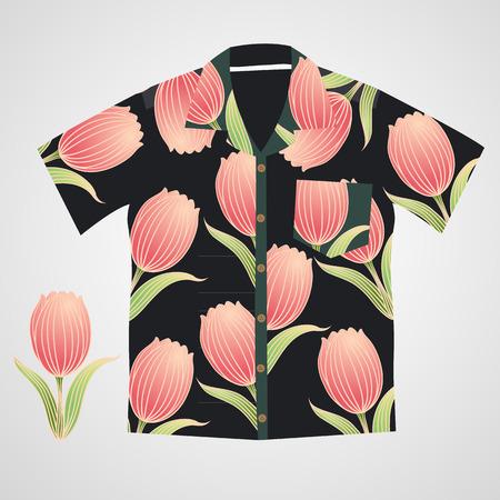 hawaii shirt vector