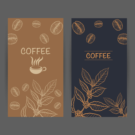 Packaging design for coffee Stok Fotoğraf - 58123274