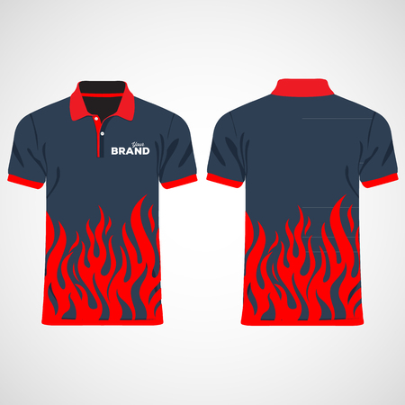 shirt template: Color men polo shirts. Design template. Vector illustration