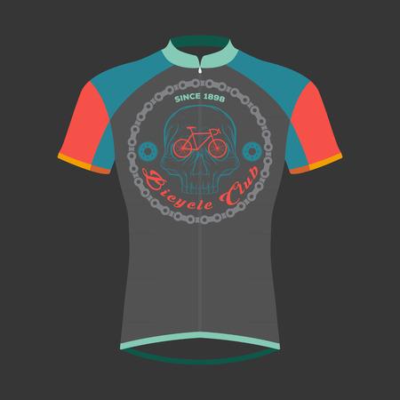 pedaling: cycling shirts design Illustration