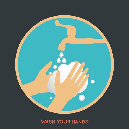 wash your hands symbol Illustration
