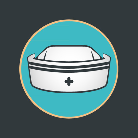 nurse hat: nurse hat vector Illustration