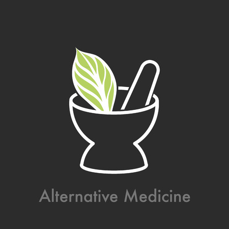 Alternative Medizin Vektorgrafik