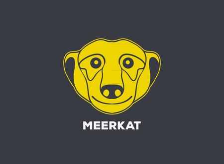 mongoose: meerkat   vector icon design Illustration