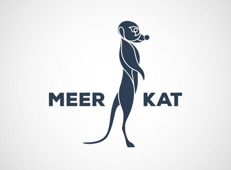 mongoose: meerkat vector icon design