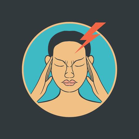 migraine: migraine vector Illustration