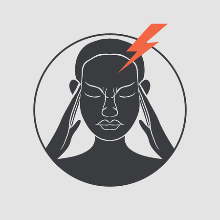 migraine vector Illustration