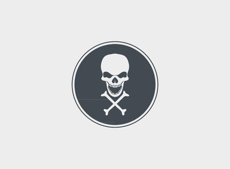 Skull  vector icon design Illustration