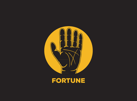 palm reading: fortune telling vector icon design Illustration