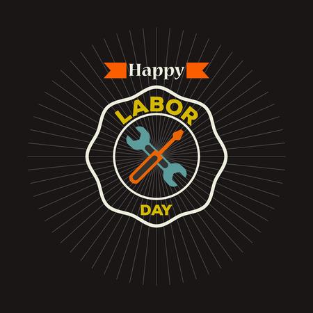 labor day vector logo label
