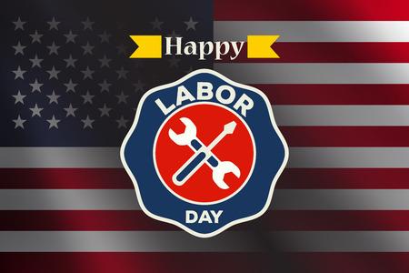 labor day vector  label
