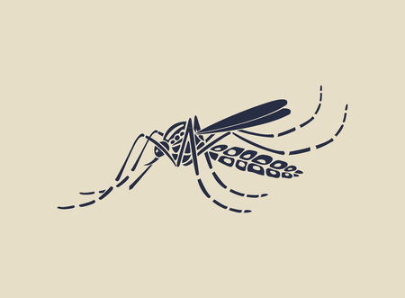 institutional: Aedes Aegypti mosquitoes logo  icon