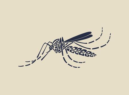 repellent: Aedes Aegypti mosquitoes logo  icon