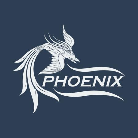 phoenix logo design icoon Stock Illustratie