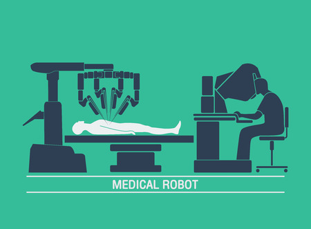 medizinische Roboter-Symbol Vektor