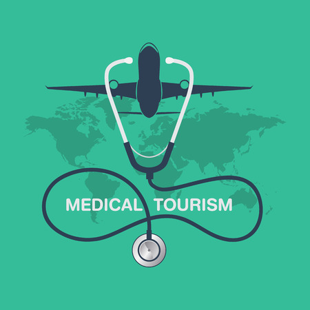medical tourism vector background Vectores