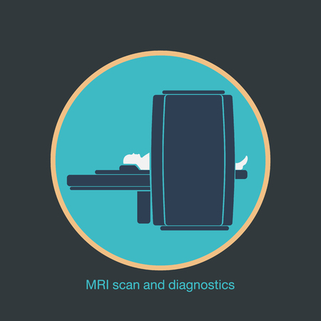 ct scan: MRI scan and diagnostics vector. Vector illustration