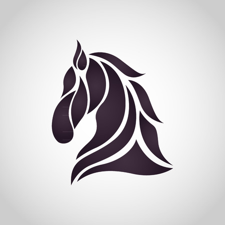 Horse logo vector icon design Illustration