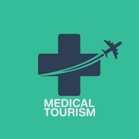 medical tourism vector background 일러스트